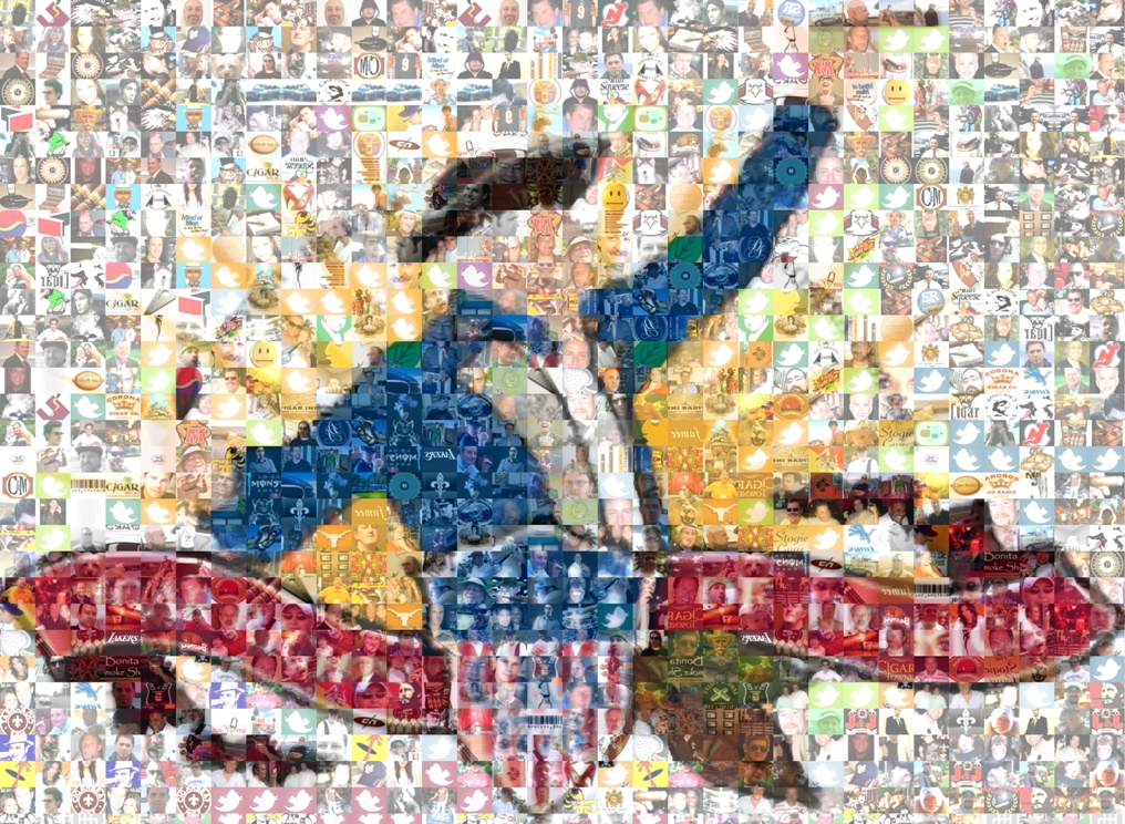 Cigar Rights Twitter Photomosaic