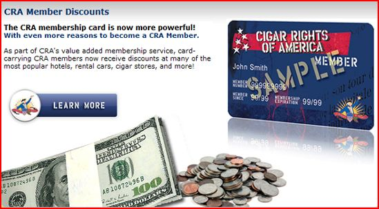 Cigar Rights of America Member Savings