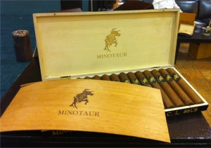 A box of Felipe Gregorio Minotaur cigars